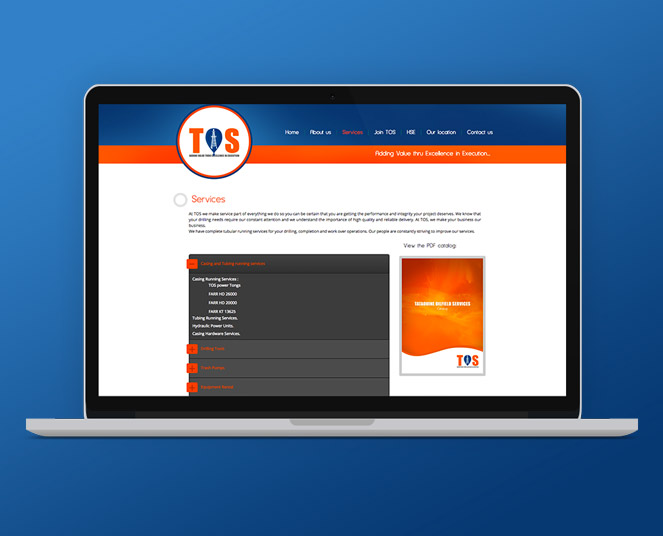 Tataouine oilfield services-site-web